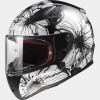 KASK LS2 FF353 RAPID POPPIES BLACK WHITE