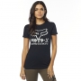 FOX T-SHIRT LADY DRIPS BLACK