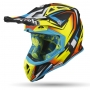 AIROH KASK OFF-ROAD  AVIATOR 2.3 AMSS FAME YELLOW GLOSS