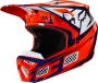FOX KASK 0FF-ROAD V-3 IDOL ORANGE/BLUE